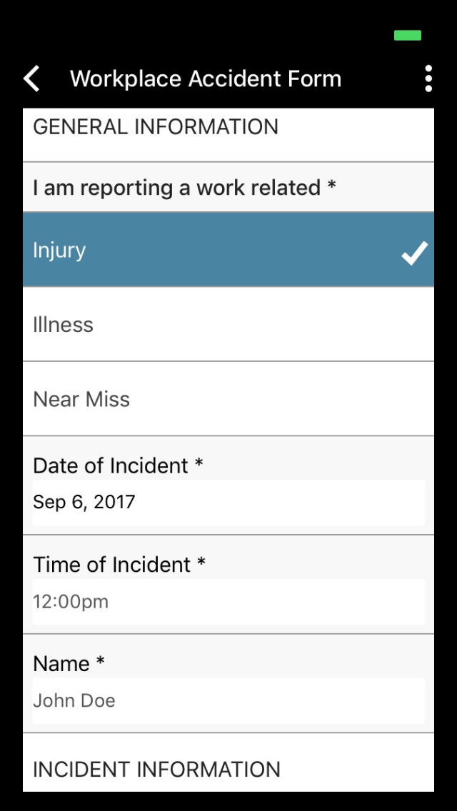 Safety Incident Forms
